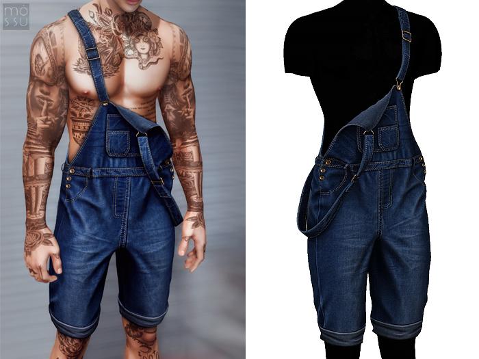 Mossu - Mark Jumpsuit - Blue N1 - Short
