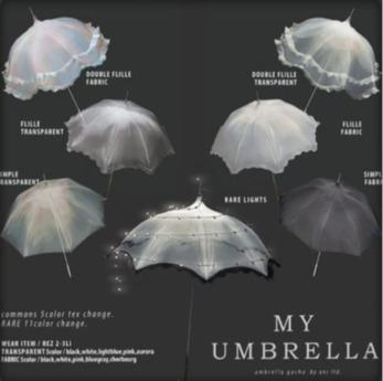 box) {anc} my umbrella (fabric) w frill