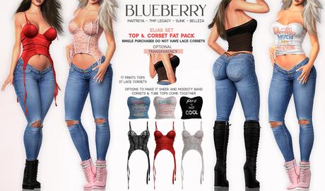 Blueberry - Elias - Corset & Tube Top - DEMO