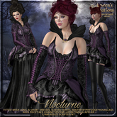 {AS} Nocturne Fitted Mesh Gown: Maitreya, Slink, Physique, Hourglass; Gothic, Victorian, Witch, Vampire, Halloween, BoM