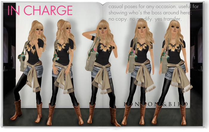 London & Bird : 'In Charge' Pose Set.