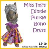 Miss Ing's Dinkie Purkle Boho Circular Dress Set