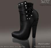 "!MOZ ""Raven"" Ankle Boot - Black Leather   * MAITREYA * SLINK * BELLEZA  * TONIC * eBODY"