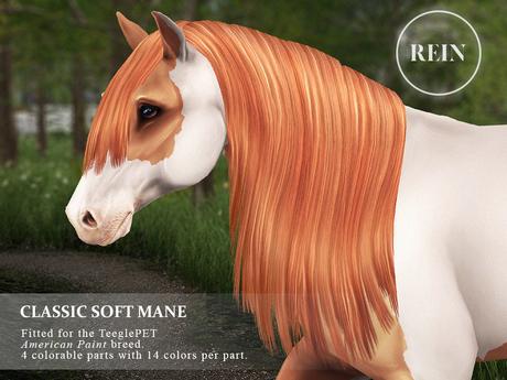 REIN - TeeglePet Classic Soft Mane AMERICAN PAINT