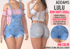 Addams   lulu denim shorts overall   one color