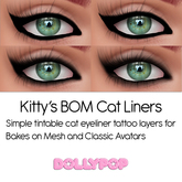 ~Dollypop~ Kitty's  Cat LIners - Bakes On Mesh & Classic