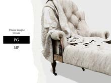 Nutmeg. Chaise Longue Cream PG