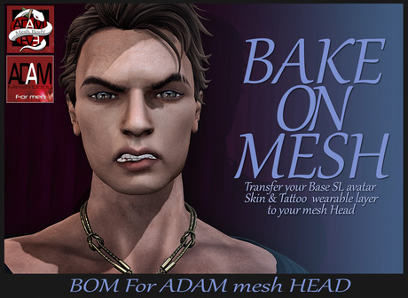 *!* ADAM BOM HUD head  - Bake on Mesh