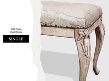 Nutmeg. Old Piano Chair Beige