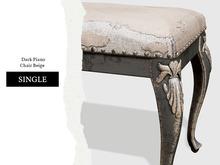 Nutmeg. Dark Piano Chair Beige