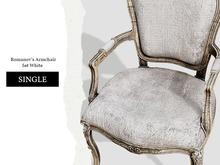 Nutmeg. Romanov's Armchair Set White