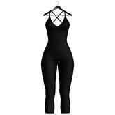 [Pumpkin] Strapped Jumpsuit - Black
