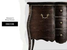 Nutmeg. Romanov's Ebony Dresser