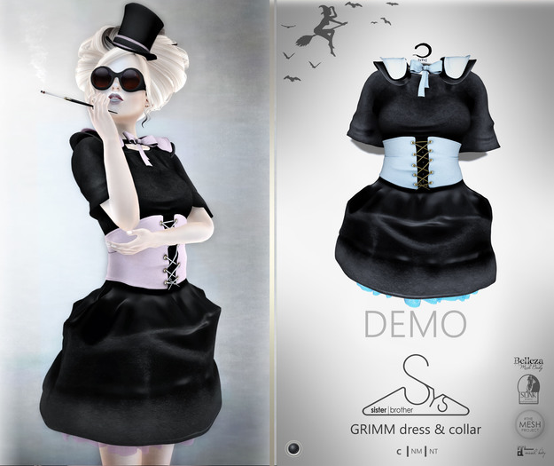 [sYs] GRIMM dress & collar (fitted & body mesh with HUD) DEMO