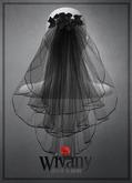 wivany Bridal Veil & Rose - Black