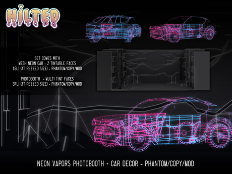 HILTED - Neon Vapor Photobooth Set