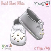 *Cherry Tot* Youth Fitted Pearl Shoes White