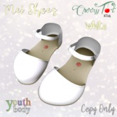 *Cherry Tot* Youth Rigged Mei Shoes White