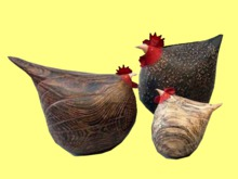 Chicken Trio Country Kitchen Wood HOME WALL DECOR Hanging Art 3D Look Flat ALPHA 1 PRIM Copy/Mod House Beauty Plaque