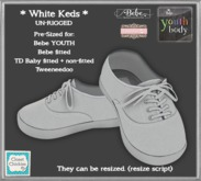 *CC* Un-Rigged Kids Keds WHITE (Resize) (ADD ME)