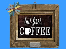 Coffee FIRST framed Country Kitchen HOME WALL DECOR Hanging Art