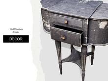 Nutmeg. Old Wooden Table