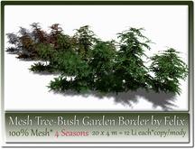 Mesh Tree-Bush Garden Border 20x4m Size= 4 Seasons= 12 Li each