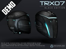 *DEMO* TRX07 HELMET (BLACK) [NeurolaB Inc.] Cyber Cyberpunk Sci-fi Fashion Armor