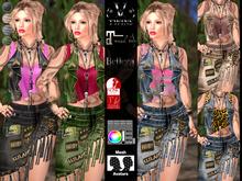 V-Twins- Biker Clothes - Witness Biker Version **MESH Outfit [Mesh Bodies Compatible] Maitreya Slink Belleza