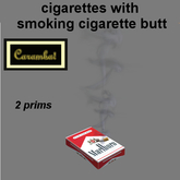 cigarettes with smoking cigarette butt