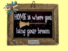 Home Hang Broom Country Kitchen HOME WALL DECOR Hanging Art 3D Look Flat ALPHA 1 PRIM Copy/Mod Country House Beauty