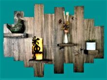 Reclaimed Wood Brick Brack Shelf HOME WALL DECOR Hanging Art, 3D Look, Flat ALPHA CUT, 1 PRIM Copy/Mod Country Beauty