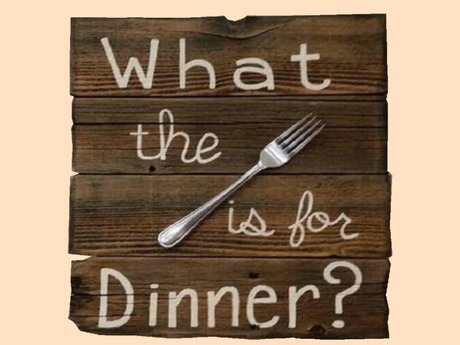WTF is for Dinner? Wood Country Kitchen HOME DECOR Hanging Wall Art Plaque 3D Look Flat Alpha 1 PRIM Copy/Mod Interior