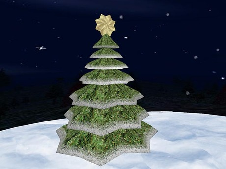 Christmas Tree 3D (only 2 prims)