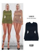 AMBER. Pleated Mini Dress [BLACK] ::Kloss: