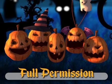 ~AB~ Halloween Pumpkins ~ FULL PERM ~ 1 LI ~ Strong LODs
