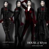RFyre UnOrthodox Women's Gothic Vampire Brocade Suit