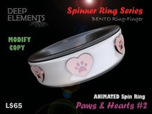 [DeepElements] : Spin Ring - Hearts & Paws #1