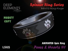 [DeepElements] : Spin Ring - Paws & Hearts #1