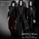 RFyre UnOrthodox Men Gothic Vampire Black Brocade and Satin Suit