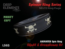 [DeepElements] : Spin Ring - Skull & Crossbones #1