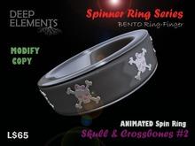 [DeepElements] : Spin Ring - Skull & Crossbones #2