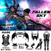Belle Epoque { Fallen Sky } Wings Navy - Box