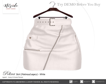 ~Nerido~ Polina Skirt(Maitreya/Legacy)-White