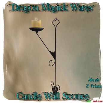 Dragon Magick Wares Candle Wall Sconce Mesh