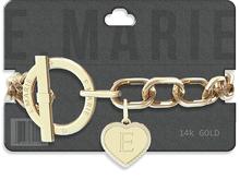 e.marie // Toggle Heart Bracelet - Gold