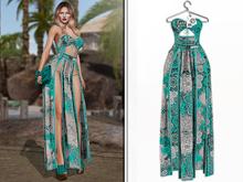 ED. Flora Dress Turquoise