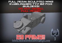 ~Full perm Sculpted german ww2 Kubelwagen type 82
