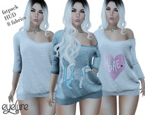 Eyelure Off Shoulder Top/Dress  HUD Driven Fatpack