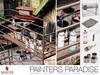 Painters Paradise Set - (Paint Brushes, Spray Paint, Scafolding, Paint Cans, Painter Mat)